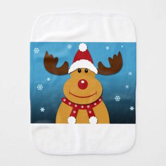 Cartoon Rudolph The Reindeer Christmas Gifts Baby Burp Cloth
