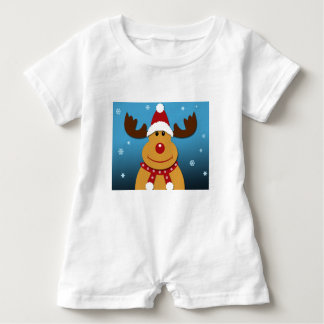 Cartoon Rudolph The Reindeer Christmas Gifts Baby Romper