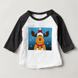 Cartoon Rudolph The Reindeer Christmas Gifts Baby T-Shirt