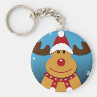 Cartoon Rudolph The Reindeer Christmas Gifts Keychain