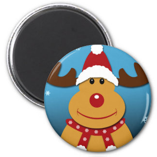 Cartoon Rudolph The Reindeer Christmas Gifts Magnet