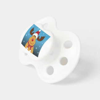 Cartoon Rudolph The Reindeer Christmas Gifts Pacifiers