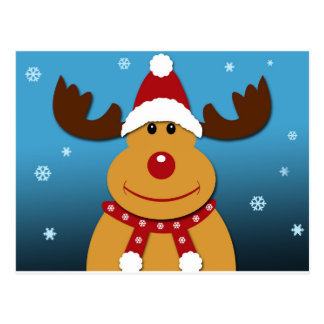 Cartoon Rudolph The Reindeer Christmas Gifts Postcard