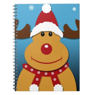 Cartoon Rudolph The Reindeer Christmas Gifts Spiral Notebook