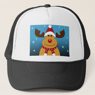 Cartoon Rudolph The Reindeer Christmas Gifts Trucker Hat
