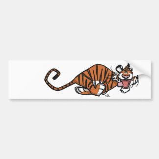 Cartoon Running Tiger bumper sticker