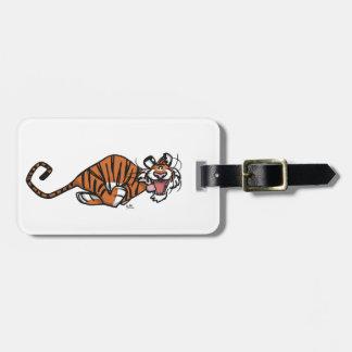 Cartoon Running Tiger Luggage Tag