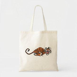 Cartoon Running Tiger Tote Bag