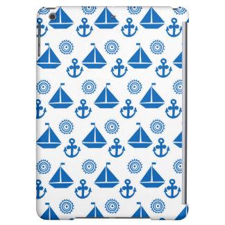 Cartoon Sail Boat Pattern Case For iPad Air
