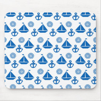 Cartoon Sail Boat Pattern Mouse Pad