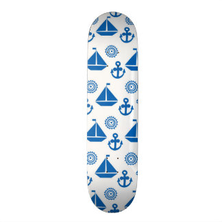 Cartoon Sail Boat Pattern Skate Deck