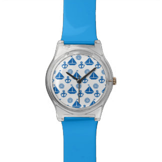 Cartoon Sail Boat Pattern Wristwatch