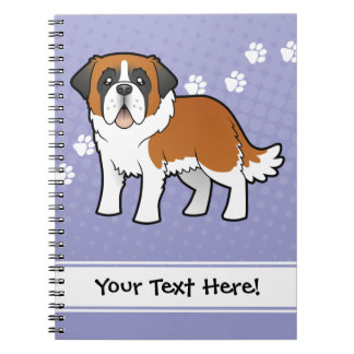 Cartoon Saint Bernard Notebook