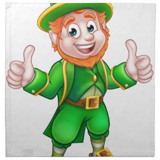 Cartoon Saint Patricks Day Leprechaun Napkin