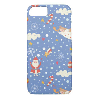 Cartoon Santa Claus snowflakes - Xmas gifts iPhone 8/7 Case