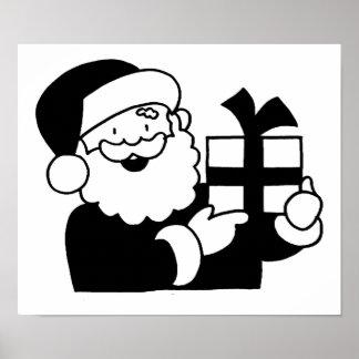 Cartoon Santa Poster