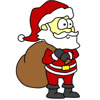 Cartoon Santa Standing Photo Sculpture