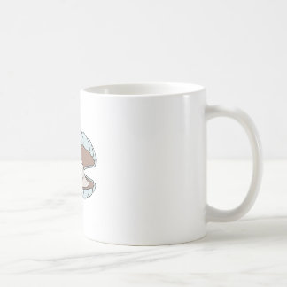 Cartoon Scallop Shellfish Clam Coffee Mug