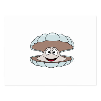 Cartoon Scallop Shellfish Clam Postcard
