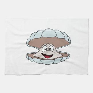 Cartoon Scallop Shellfish Clam Towel