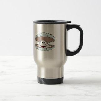 Cartoon Scallop Shellfish Clam Travel Mug