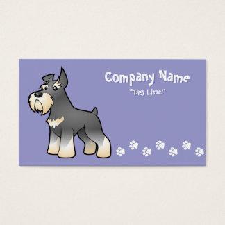 Cartoon Schnauzer Business Card