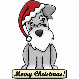 Cartoon Schnauzer Christmas Ornament Photo Sculpture Ornament