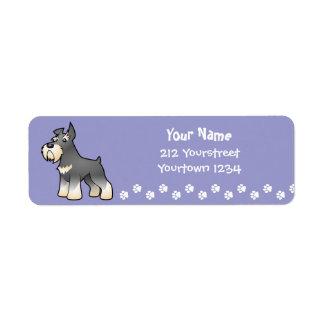 Cartoon Schnauzer Custom Return Address Labels