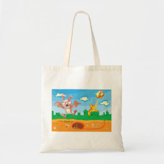 Cartoon Science Fiction Character Tote Bag