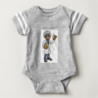 Cartoon Scientist Holding Test Tube Baby Bodysuit