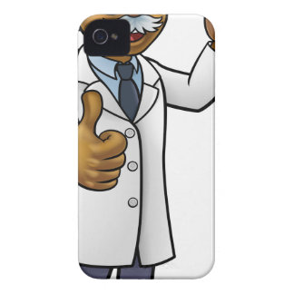 Cartoon Scientist Holding Test Tube iPhone 4 Cover
