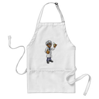 Cartoon Scientist Holding Test Tube Standard Apron
