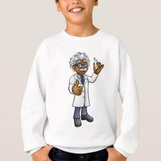 Cartoon Scientist Holding Test Tube Sweatshirt