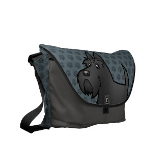 Cartoon Scottish Terrier Commuter Bags