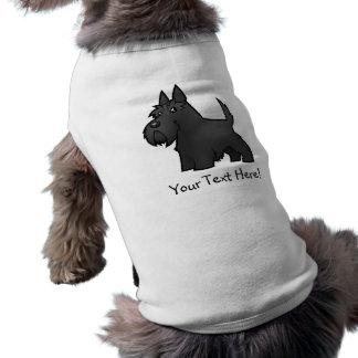 Cartoon Scottish Terrier Dog Tee