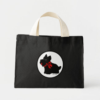 Cartoon Scottish Terrier tote bag