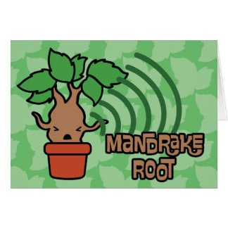 Cartoon Screaming Mandrake Character Art Card