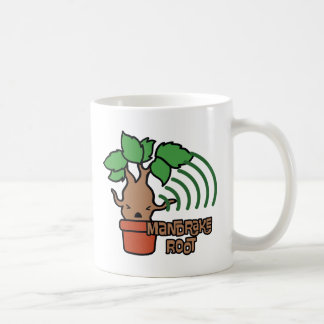 Cartoon Screaming Mandrake Character Art Coffee Mug
