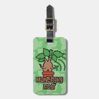 Cartoon Screaming Mandrake Character Art Luggage Tag