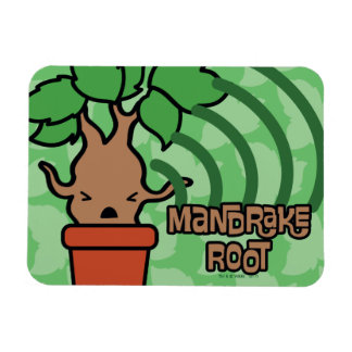 Cartoon Screaming Mandrake Character Art Magnet