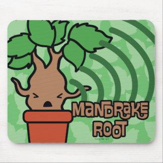 Cartoon Screaming Mandrake Character Art Mouse Pad