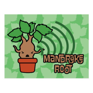 Cartoon Screaming Mandrake Character Art Postcard