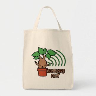 Cartoon Screaming Mandrake Character Art Tote Bag