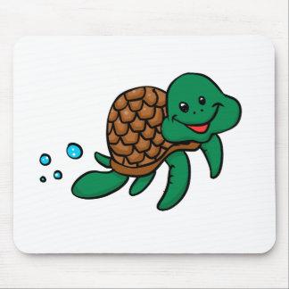 Cartoon sea turtle mouse pad