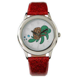 Cartoon sea turtle watch