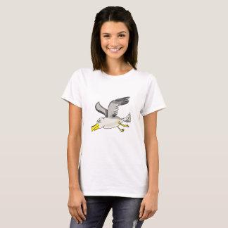 Cartoon seagull flying over head T-Shirt