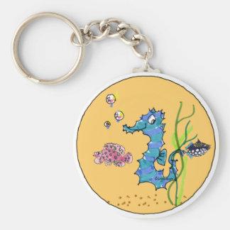 Cartoon Seahorse Cute Fish Keychains