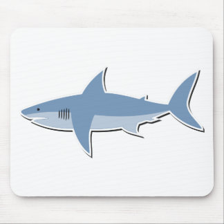 Cartoon Shark Mouse Pad