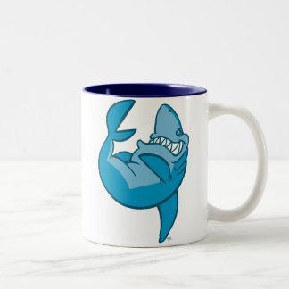 Cartoon Shark rolling  laughing Mug