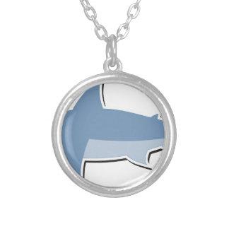 Cartoon Shark Silver Plated Necklace
